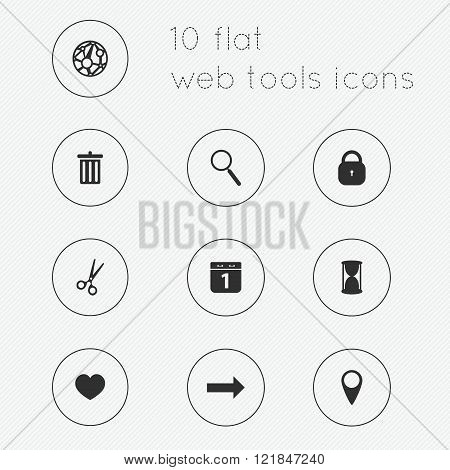 Modern Flat Icons Vector Collection Of Web Tools Theme.