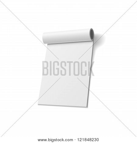 Notepad realistic Design empty Template