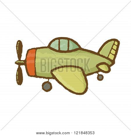 Vector Airplane Illustration