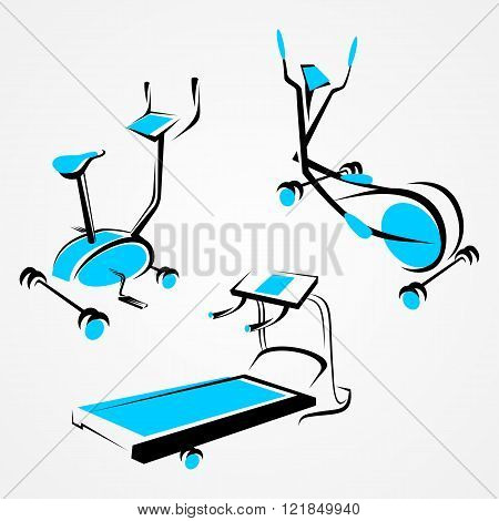 Set of sports trainer