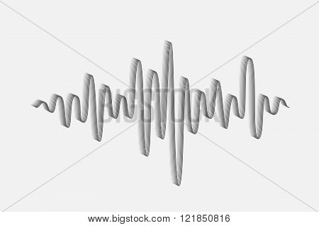 Sound Wave. Music Wave Icon. Audio Equalizer Technology. Vector Illustration.