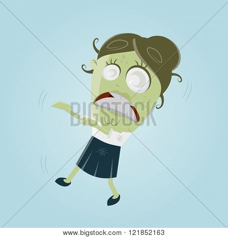 funny business zombie woman