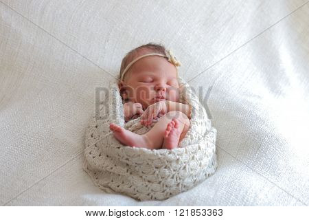 Cute newborn baby girl sleeping Cute newborn baby girl sleeping