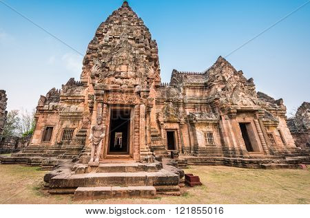 Phanom Rung historical park is Castle Rock old Architecture about a thousand years ago at Buriram Province,Thailand