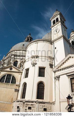 Veiw At Basilica Di Santa Maria Della Salute, Venice, Italy