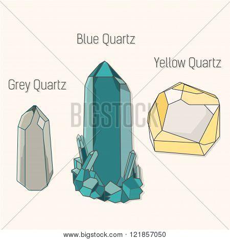 quartz icons set vector