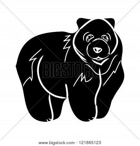 Brown Bear 0 - Black Silhouette