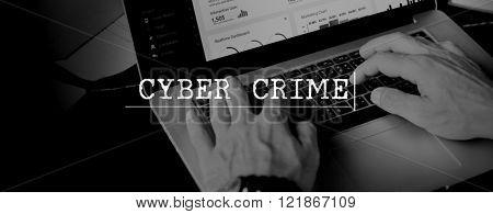 Cyber Crime Computer Attack Malware Concept