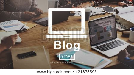 Blog Blogging Content Internet Message Media Concept
