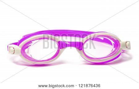 Goggles for swimming isolated on white background