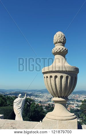 the view of Braga city by the Bom Jesus