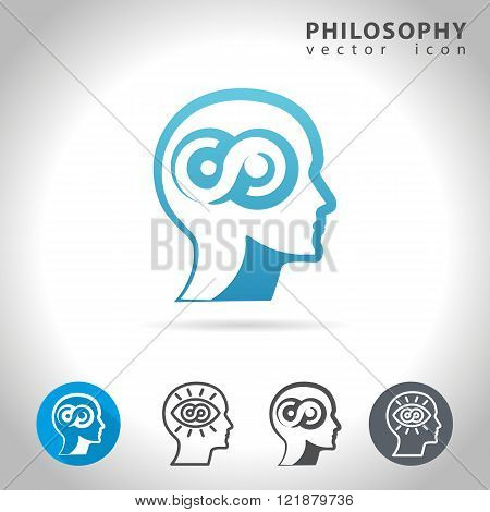 Philosophy icon set, collection of philosophy icons, vector illustration