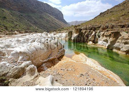 Fresh water pool on Socotra island