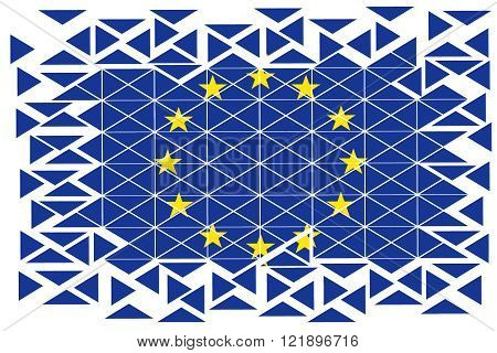 illustration to subjects of the merging of the European alliance in geometric figures