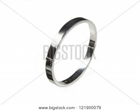 Slim Square Silver Bracelet