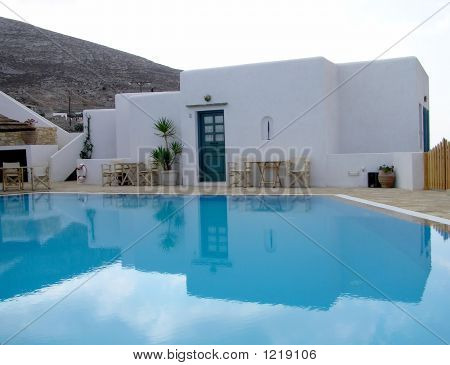 holiday resort in folegandros island in cyclades greece poster