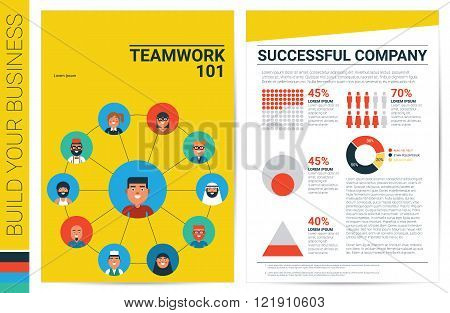 Teamwork Concept Book Cover Template