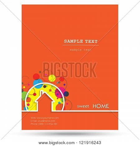 House logo design with place for text. Home Sweet Home Vector Illustration