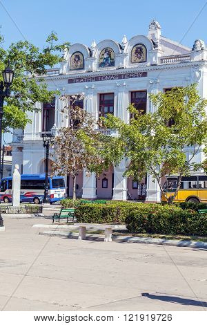 Cienfuegos, Cuba - March 30, 2012: Tomas Terry Theater