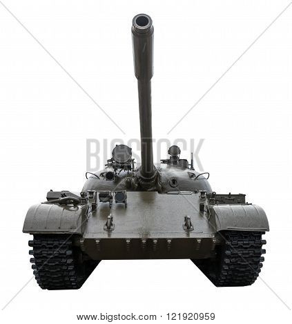 Tank T-55 isolated on a white background