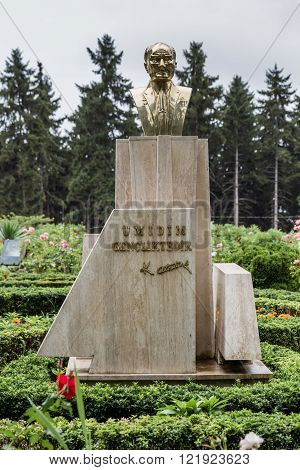 TRABZON TURKEY - AUGUST 12 2013: Ataturk kiosk formerly used as Kapagiannidis summer residence in Trabzon Turkey