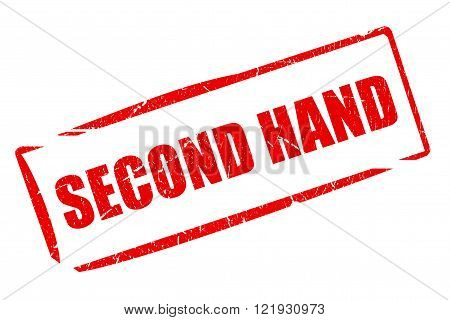 Second hand stamp isolated on white background