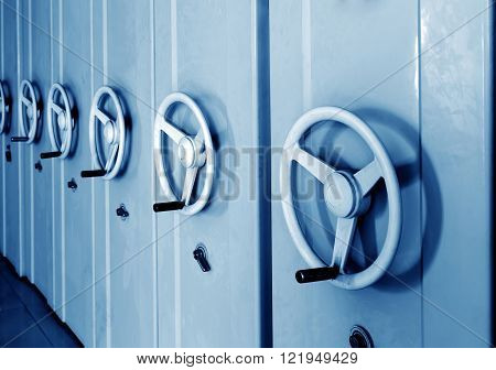 Office files, documents, archives safe, blue tone picture