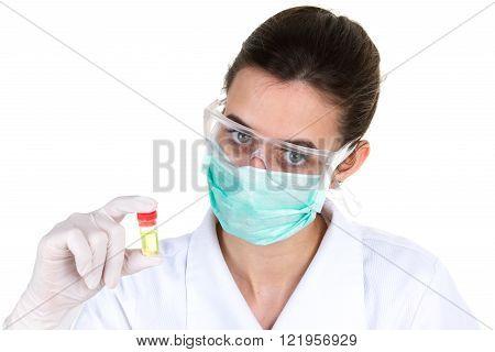A Brunette Medical Or Scientific Researcher Or Doctor