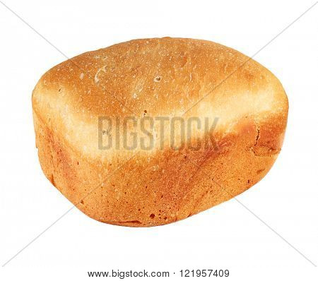 Homemade natural baked bread isolated on white
