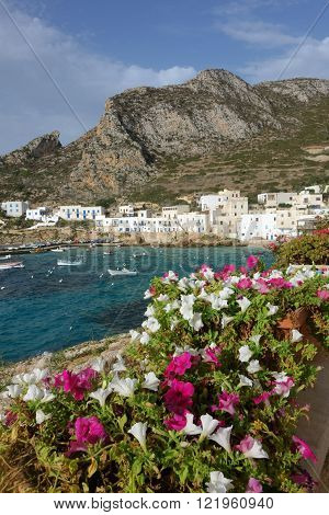 levanzo island sicily, the small village and the harbour