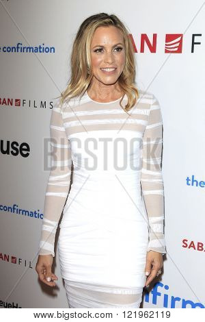 LOS ANGELES - MAR 15: Maria Bello at the premiere of Saban Films' 'The Confirmation' at NeueHaus on March 15, 2016 in Los Angeles, California