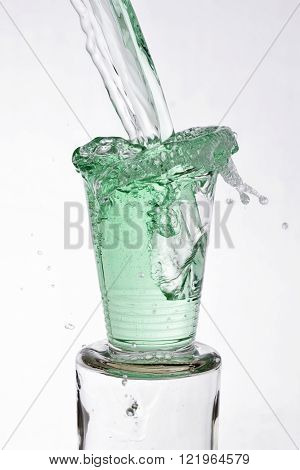 Green Drink Poured Into A Glass
