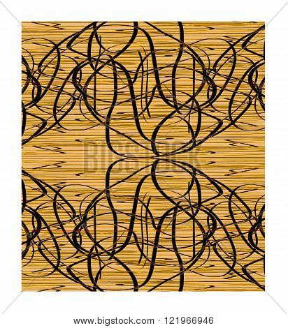 Brown background with intertwined lines. Elegant background with brown lines.