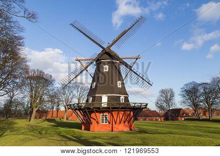 Windmill in Kastellet fortress, Copenhagen, Denmark
