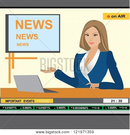 news anchor woman header TV