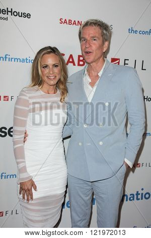 LOS ANGELES - MAR 15:  Maria Bello, Matthew Modine at the The Confirmation Premeire at the NeueHaus on March 15, 2016 in Los Angeles, CA