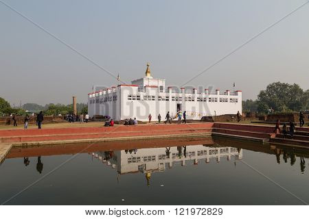 Buddhas birthplace in Lumbini, Nepal