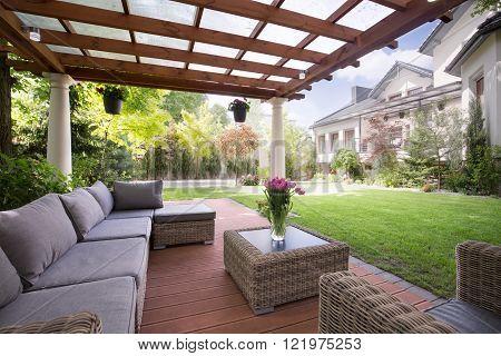 Verandah With Modern Garden Furniture