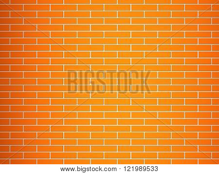 Seamless texture of a red brick wall