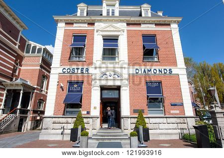 AMSTERDAM-APRIL 30: The Diamond Museum Amsterdam on April 302015 the Netherlands. The Diamant Museum is a diamond-themed museum located in the city's museum quarter.
