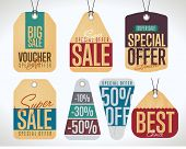 Sale tag vector isolated. Sale sticker with special advertisement offer. Retail tag. 50% Off tag. Tag collection. Super sale tag. Half price tag. Big sale tag. Special offer tag. Sale sticker.  Tag. poster