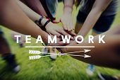 Teamwork Team Building Cooperation Relationship Concept poster
