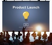 New Product Launch Marketing Commercial Innovation Concept poster