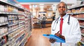 African-american Doctor pharmacist man. poster