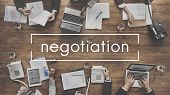 Negotiation Deal Agreement Collaboration Talk Concept poster