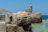 Venetian fortress in Naoussa town, Paros island, Cyclades, Greece poster