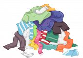 Illustration Featuring a Messy Pile of Dirty Laundry poster