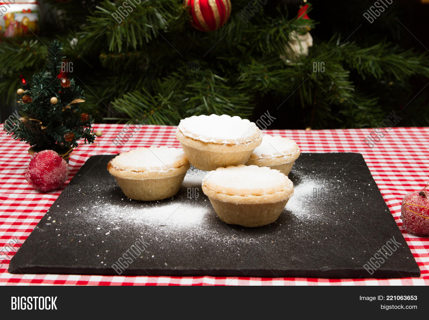 Mince pies Traditional British Christmas treat of mince pies