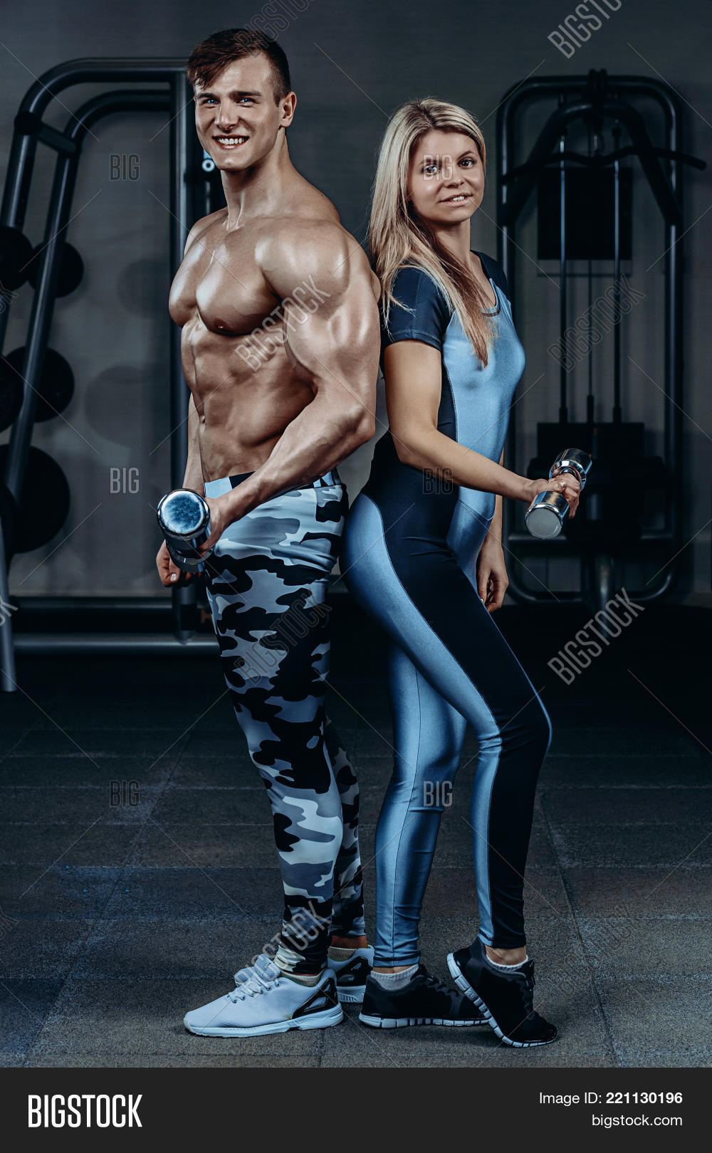 Fitness Couple - Woman Image & Photo (Free Trial)   Bigstock
