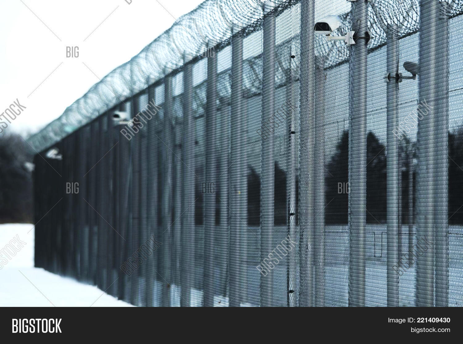 Prison fence security image photo free trial bigstock